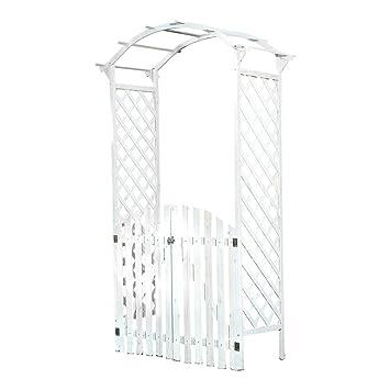 Arche Blanc En Bois Avec Porte Porte Arche Pergola Gabella