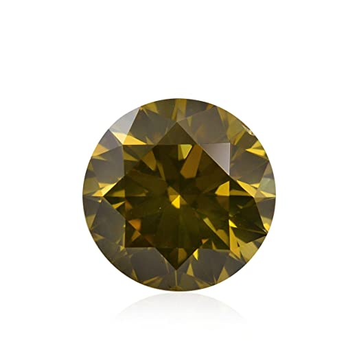 carats diamond yellow orangish slightly fancy brownish