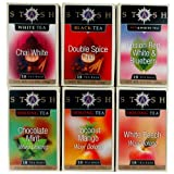 Stash Tea Exotic Tea Six Flavor Assortment, 18 Count Tea Bags in Foil (Pack of 6)