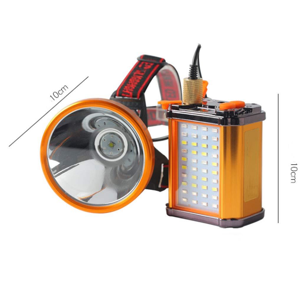 TLMYDD Wasserdichte LED-Scheinwerfer Blenden Wieder Aufladbare Wasserdichte TLMYDD Fernscheinwerfer Mit Großer Reichweite Taschenlampe (Farbe : Weißes Licht) a7f430