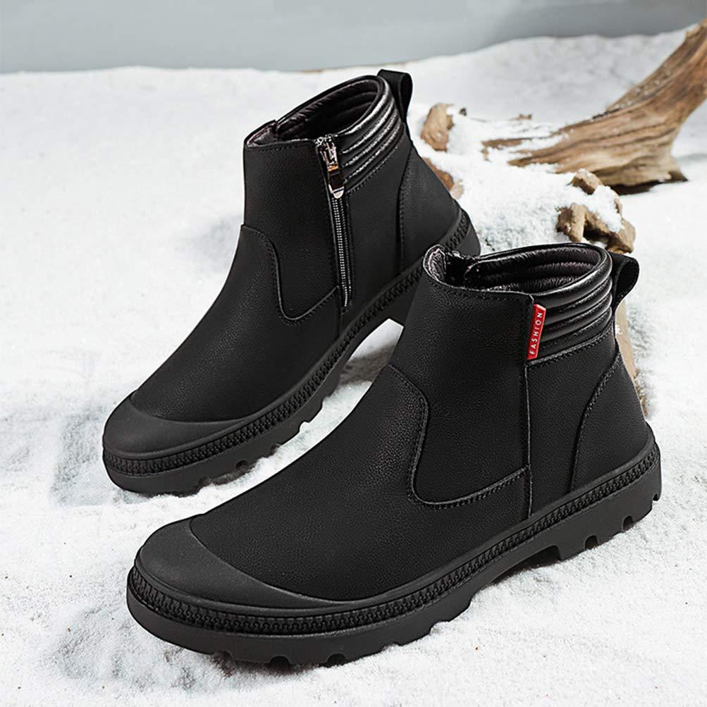 Herren High Top Lederschuhe Lederschuhe Lederschuhe England Style Fashion Set Schuhe Männer Rutschfeste Schnee Plus Samt warme Martin Stiefel e05692