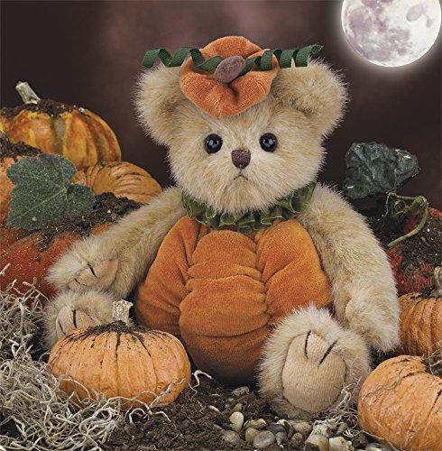 Bearington Izzy A. Pumpkin, Plush Stuffed Animal Teddy Bear, 10 -