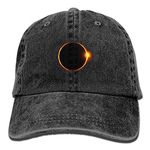 Total Solar Eclipse Flame Circle Classic Baseball Caps Washed Cowboy Hat Unisex