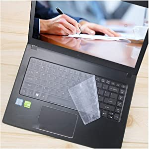 14 Inch Silicone Laptop Keyboard Cover Protector Skin Compatible for Acer Aspire E14 SF314 Swift 3 E5 432G K4000 TMP248 TMTX40 TMX349,Clear