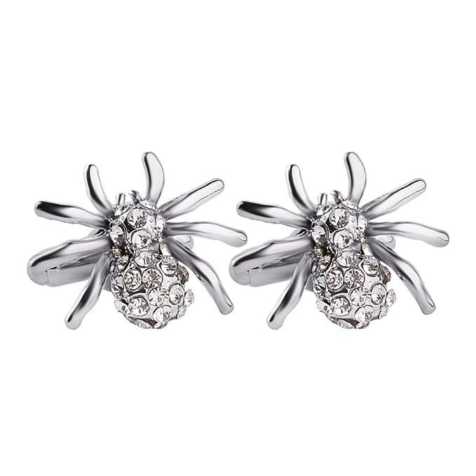 Diamante Araña Mancuernas Francés Boda Negocio Regalo,Silver-M: Amazon.es: Ropa y accesorios