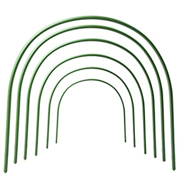 pinnacleT1 6 Pack Greenhouse Hoops Grow Frame Tunnel,0 9oz Row Cover