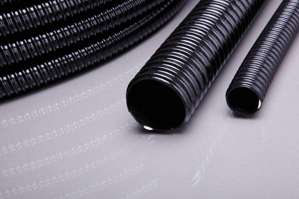 Teichschlauch, Spiralschlauch in 25 Meter Länge, 50 mm 2 schwarz Top Qualität