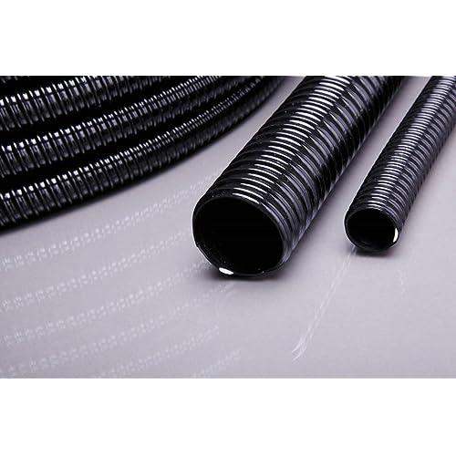 """Teichschlauch, Spiralschlauch in 5 Meter Länge, 25 mm 1"""" schwarz Top Qualität"""
