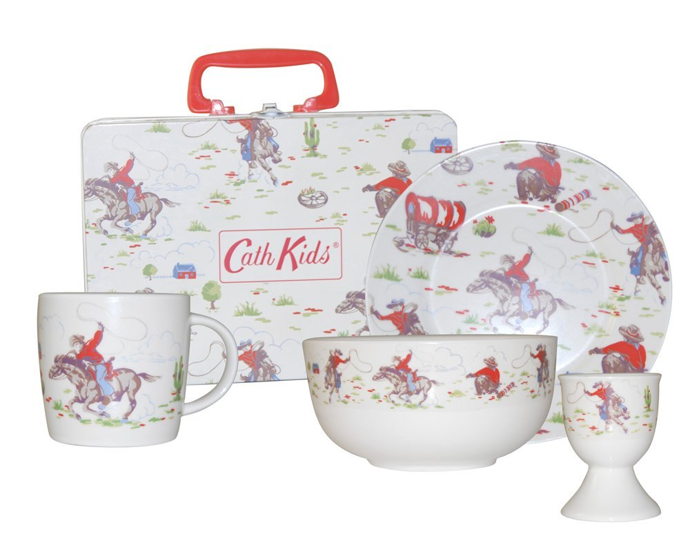 Cath Kidston Cowboy Breakfast Set Fine China 4 Pieces Amazon.co.uk Kitchen u0026 Home  sc 1 st  Amazon UK & Cath Kidston Cowboy Breakfast Set Fine China 4 Pieces: Amazon.co ...