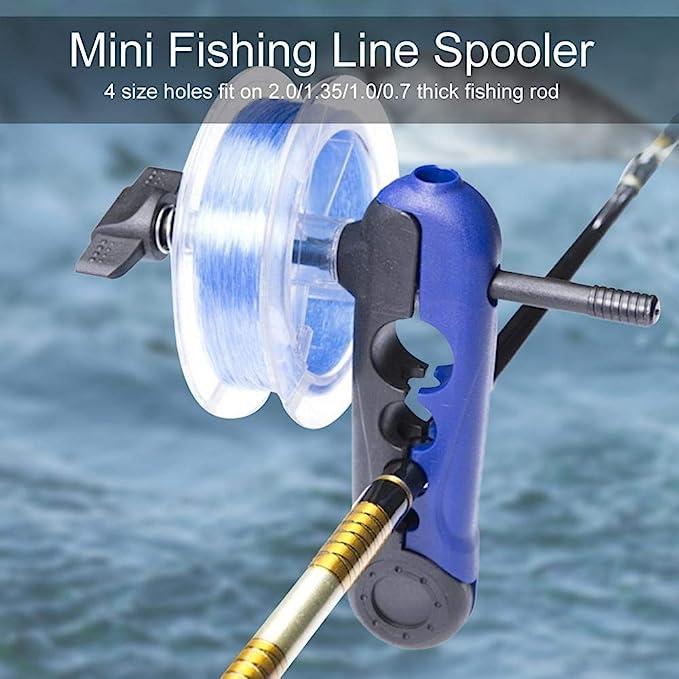 Outdoor Fishing Line Spooler Rod Bobbin Reel Winder Tackle Adjustable Supply AL