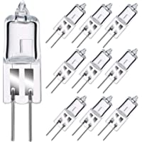 GMY G4 Halogeenlampen 10W 12V Dimbare Bi-Pin Base Clear Capsule 2800K Warm Wit 10 Pack