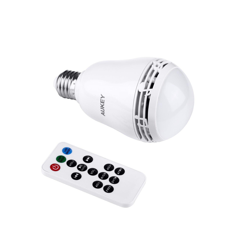LED / RGB Glühbirne mit Bluetooth Lautsprecher und Fernbedienung / Bild: Amazon.de