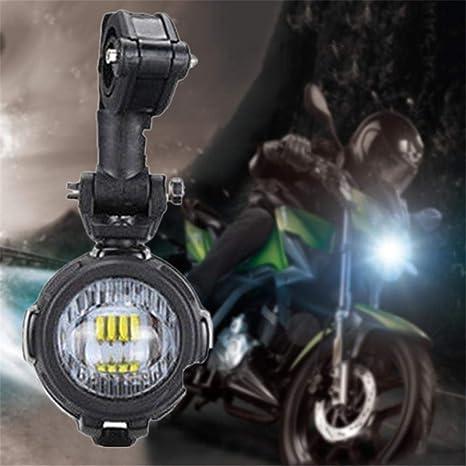 Fankr Phare Moto Feux Additionnels LED Phare Antibrouillard Auxiliaire avec Supports en M/étal Bo/îtier en Aluminium Moul/é pour Adventure Moto 1200GS 800GS 850GS 1250GS 310GS 650GS 700GS 750GS