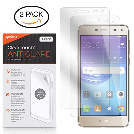 Amazon com: Huawei Y5 (2017) Screen Protector, BoxWave [ClearTouch