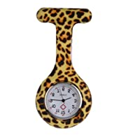New Leopard Silicone Quartz Movement Nurse Brooch Fob Tunic Pocket Watch