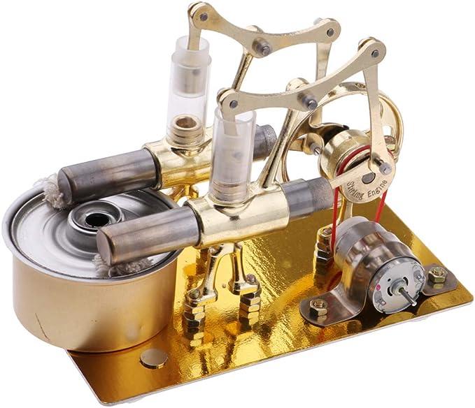 FLAMEER Stirling Modelo Motor Aire Caliente Electricidad Generador ...