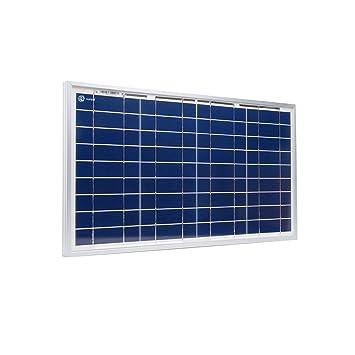 Xunzel 30 W Módulo Solar 12 V Cargador de batería con 2 m Cable Solar, 1 pieza, Solar Power de 30
