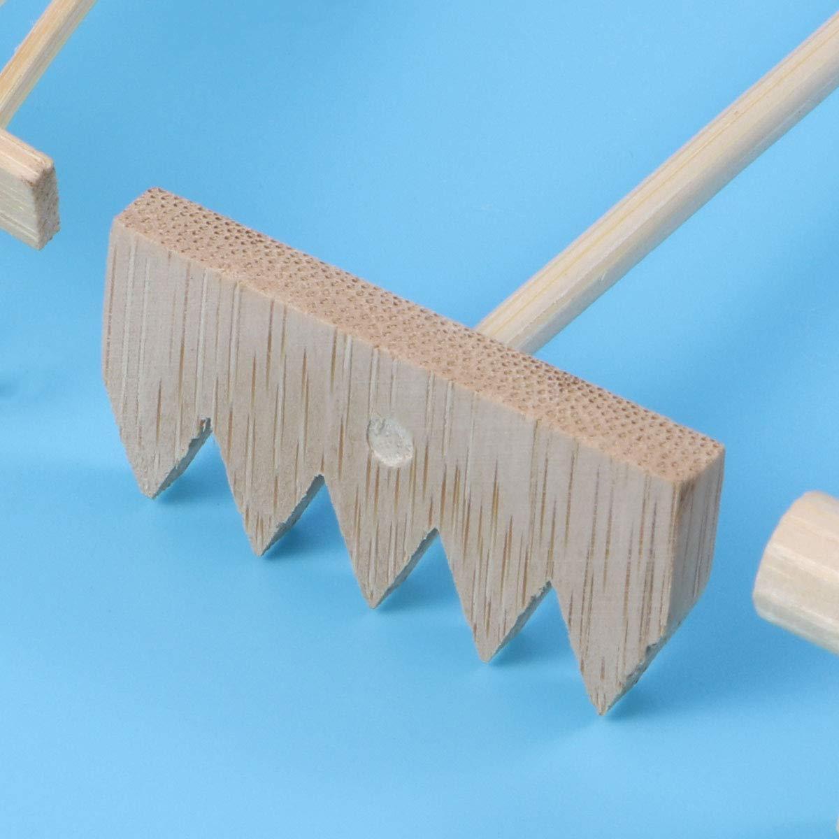 3Pcs Mini Rake for Zen Garden Sand Tabletop Meditation Feng Shui Decor