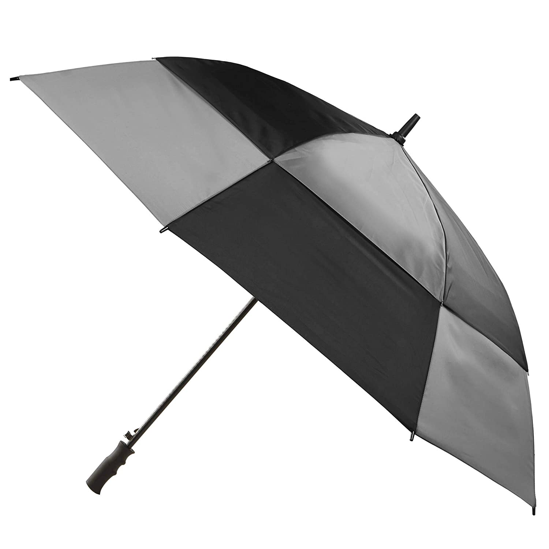 dcbceeb8f3ba Amazon.com: Totes Umbrella NeverWet technology Stormbeater Vented ...