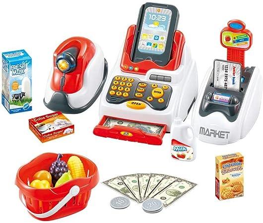 Juguete Caja Registradora cajero Set, supermercado Caja de Juguetes Simulation Boutique Caja Comptoir casa de Juego de Luxe Juguete Educativo Ideal Regalo para los bebés Niños pré-scolaires, B: Amazon.es: Hogar