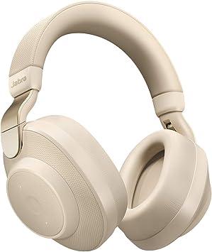 Jabra Elite Active 85h – Auriculares Inalámbricos Over Ear, Cancelación Activa de Ruido, Batería de Larga Duración para Llamadas y Música, Beige Oro