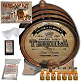Personalized Outlaw Kit (Golden Tequila) ''MADE BY'' American Oak Barrel - Design 104: Barrel Aged Tequila - 2018 Barrel Aged Series (5 Liter)