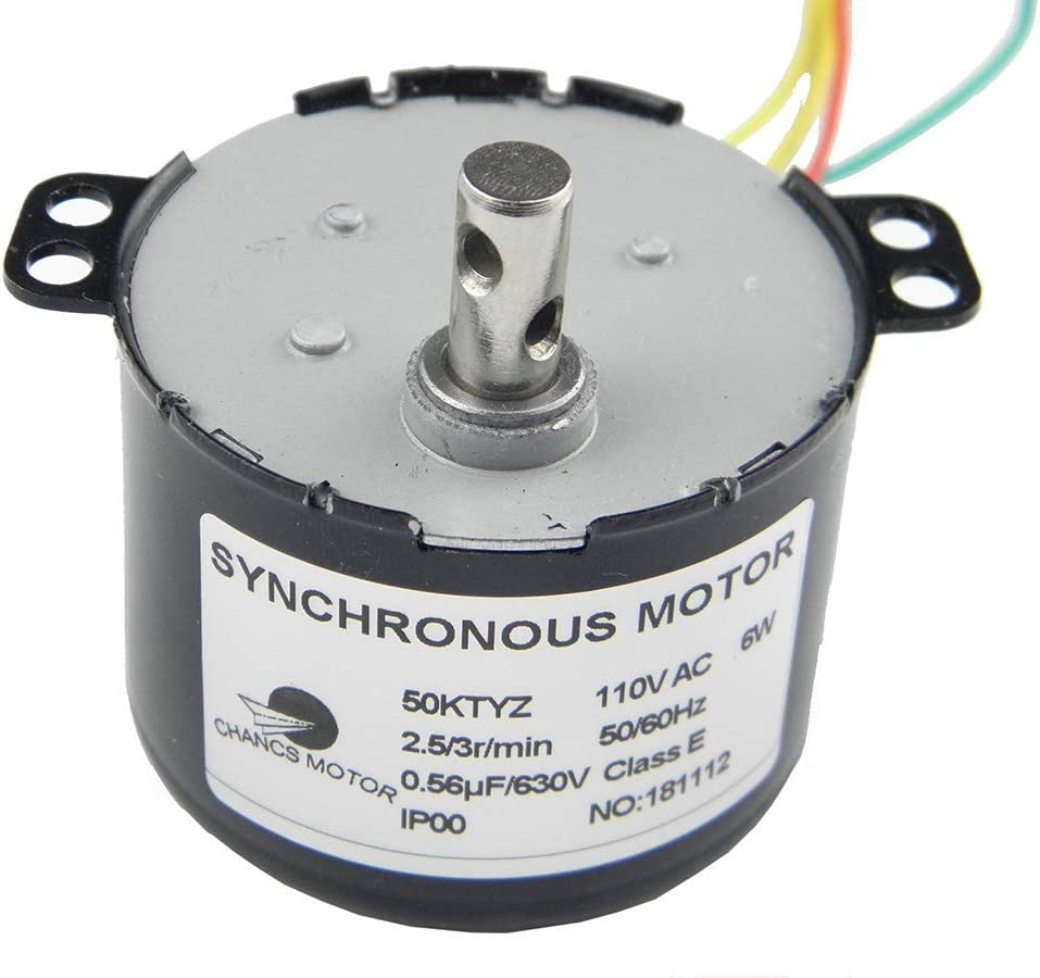 50KTYZ Synchronous Motor 50//60RPM 110V 6W Torque 1.4kg.cm Small Gear AC Motor