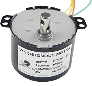 CHANCS 50KTYZ Synchronous Motor AC 110V 2.5/3RPM Electric Gear Motor for School Project