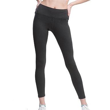 Leggings Deportivos para Mujer Yoga Polainas Running Pantalones Gris XL