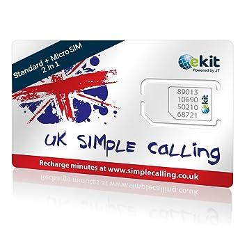 Telestial Tarjeta SIM Simple Calling Reino Unido con £6 de crédito ...