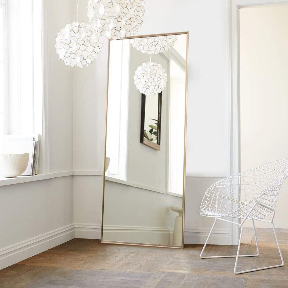 NeuType Full Length Mirror Floor Mirror with Standing Holder Bedroom