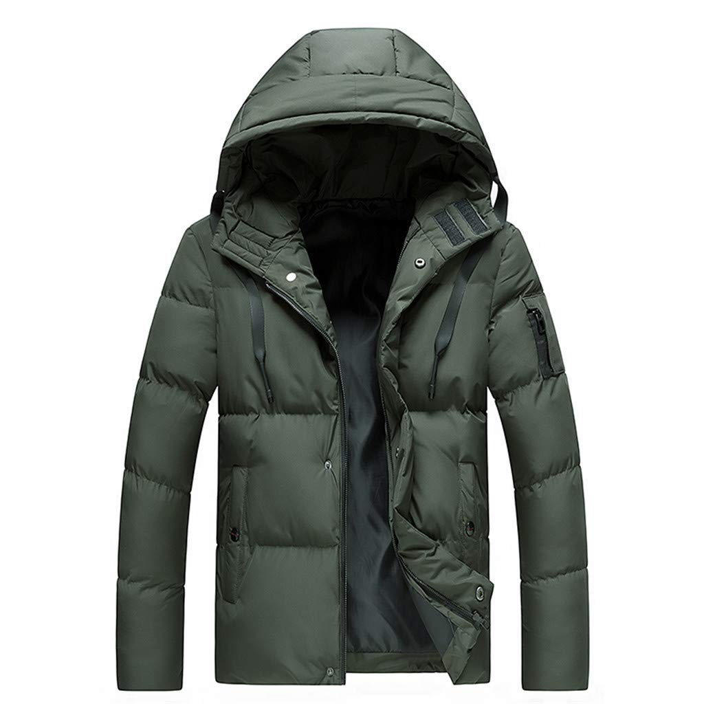 Dowager Softshell Jacket for Men, Hooded Polyester Long Sleeves Coat Jackets, Windproof Water Resistant Outwear for Outdoor Hiking Casual Work by Dowager