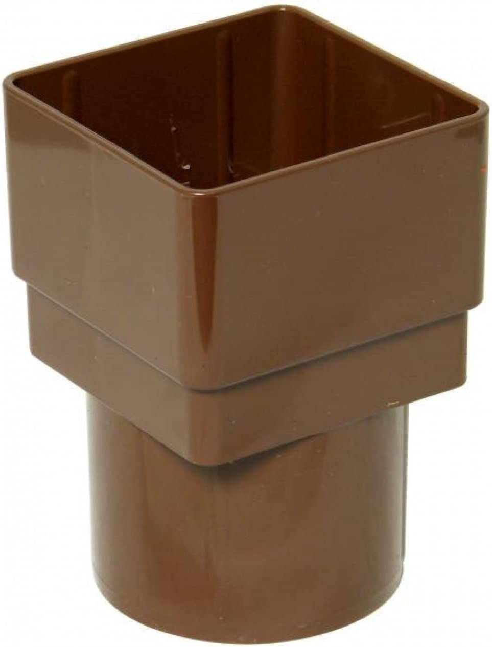 FLOPLAST 65mm Square to 68mm Round Downpipe Adapter Pack of 2 Brown