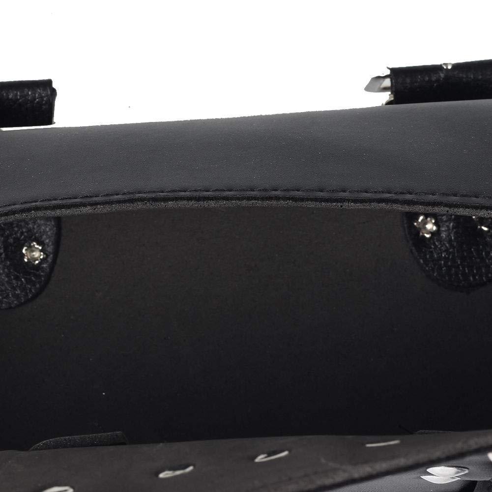 Kunstleder runde Fasstasche Schwarz Roller Dandeliondeme Tasche f/ür Motorrad Vorderseite