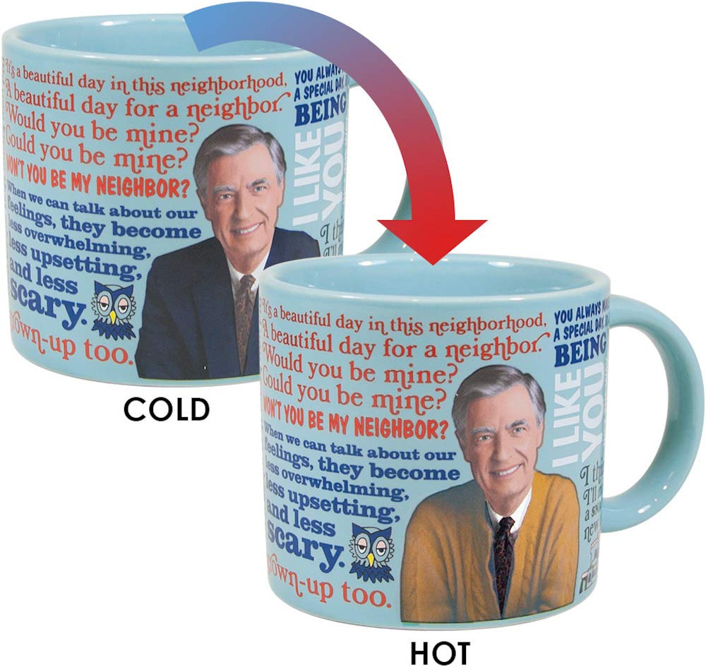 ac8b7812ccf Mister Rogers Heat Changing Coffee Mug - Add Hot Liquid and Watch Mr.  Roger's Sweater Change Color - Comes in a Fun Gift Box - by The Unemployed  ...