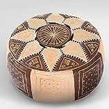Moroccan FEZ Pouf leather Ottoman Footstool Pouffe Hassock New Pouff