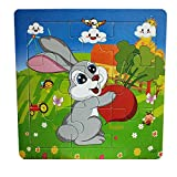 callm Wooden Puzzle Toy,Wooden Animal Puzzle Educational Developmental Baby Kids Training Toy (L)