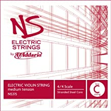 D'Addario NS Electric Violin Single Low C String, 4/4 Scale, Medium Tension