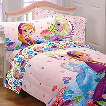 5 piece full size frozen bedding set includes 4pc full sheet set and tfull