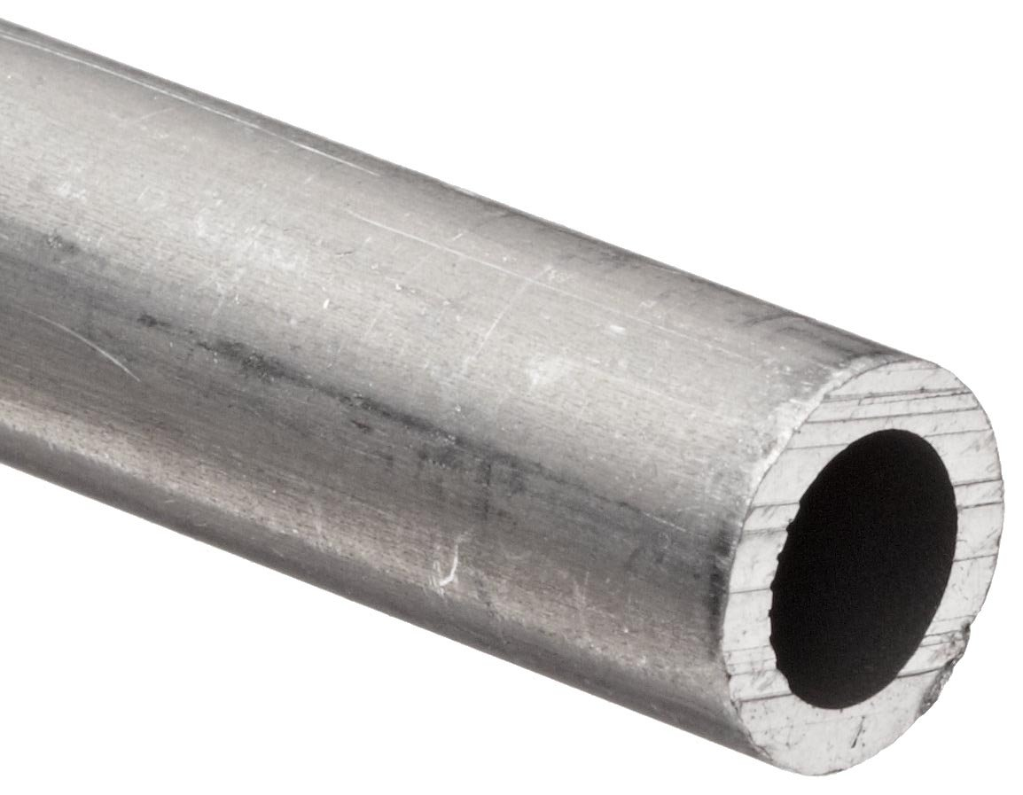 Aluminum 6061-T6 Pipe Schedule 40 2'' Nominal, 2.067'' ID, 2.38'' OD, 0.15'' Wall, 72'' Length