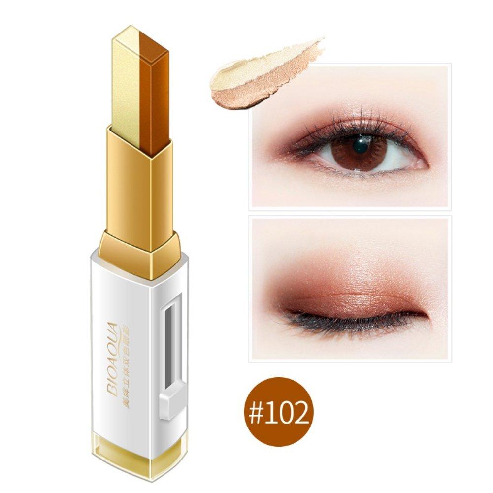 Allbesta Doppel Nude Farbe Lidschatten Bleistift Augenschminke Stifte Glitzer Wasserdicht Eyeliner Creme Langlebige Professionelle