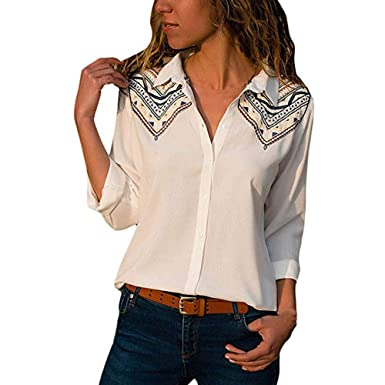 MRULIC Mode Femme Automne Hiver Exquis personnalisé Chemisier Tops T-Shirt  à Manches Longues et a72b06e22a75