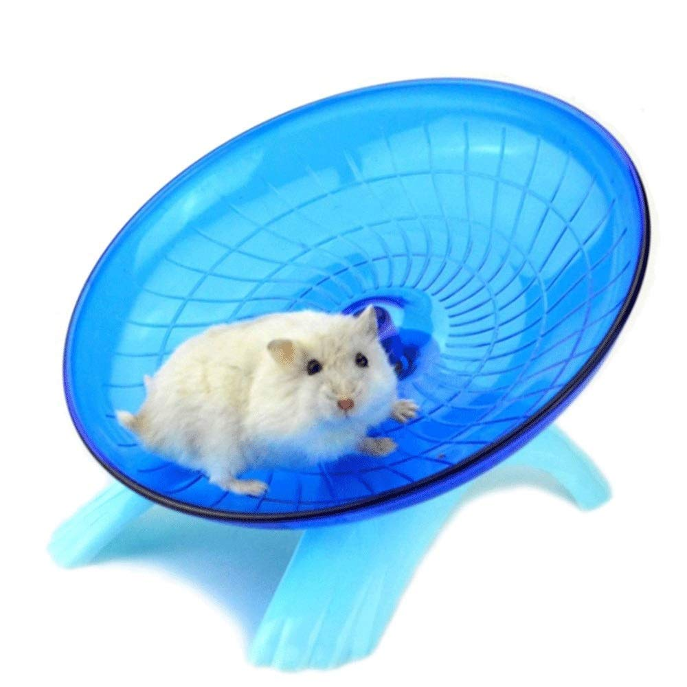 Exercise Wheel Jogging Running Toy Silent Spinner For Pet Rat Mice Chinchilla And Other Minor Brute, Cute Ultra-Quiet Non Slip Hamster Fast Saucer Jogging Exercise Wheel Roller For Small Favorite Pet by ZHANGQIAO-US