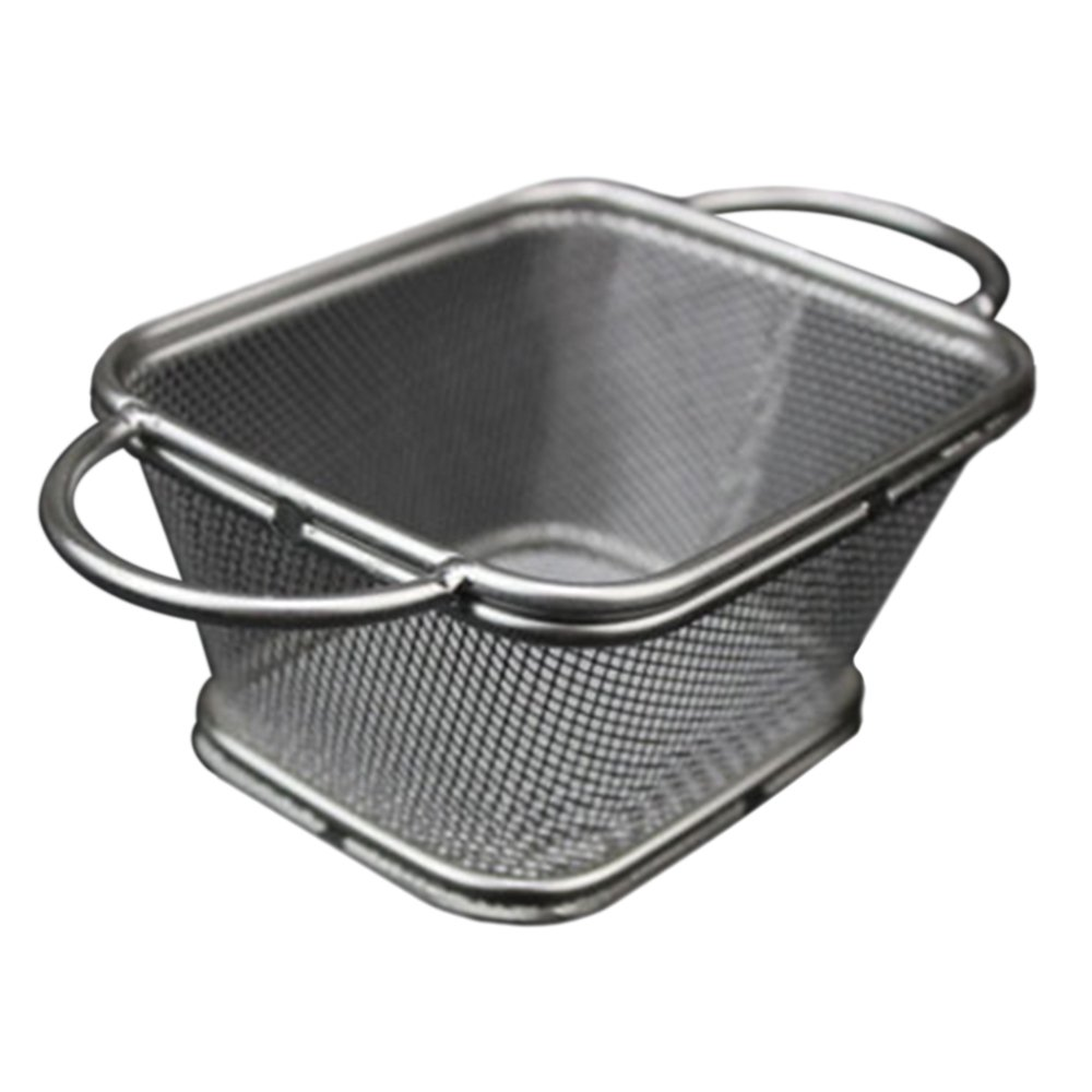 Small Fried Food Basket Stainless Steel H double handle