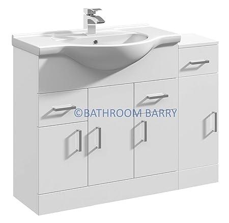 gloss gloss modular bathroom. 1000mm Modular High Gloss White Bathroom Combination Vanity Basin Sink Cabinet \u0026 Cupboard Unit E