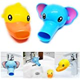 RafaLife Bath Toys - Faucet Extender, Animal Spout Sink Handle Extender for Toddlers Kids, Baby Safe and Fun Hand-Washing Solution, Promotes Hand Washing in Children (2 Pack)