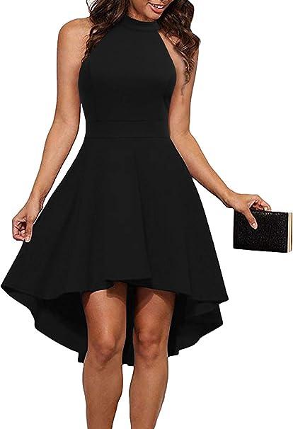 Amazon.com: Mushare, vestido de mujer con cuello halter, sin ...