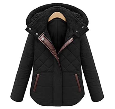 ACE SHOCK Cotton Padded Coat Women Plus Size, Short Hooded Parka ...