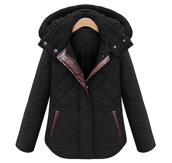 Winter Coat Women Plus Size, Short Hooded Cotton Padded Parka ...