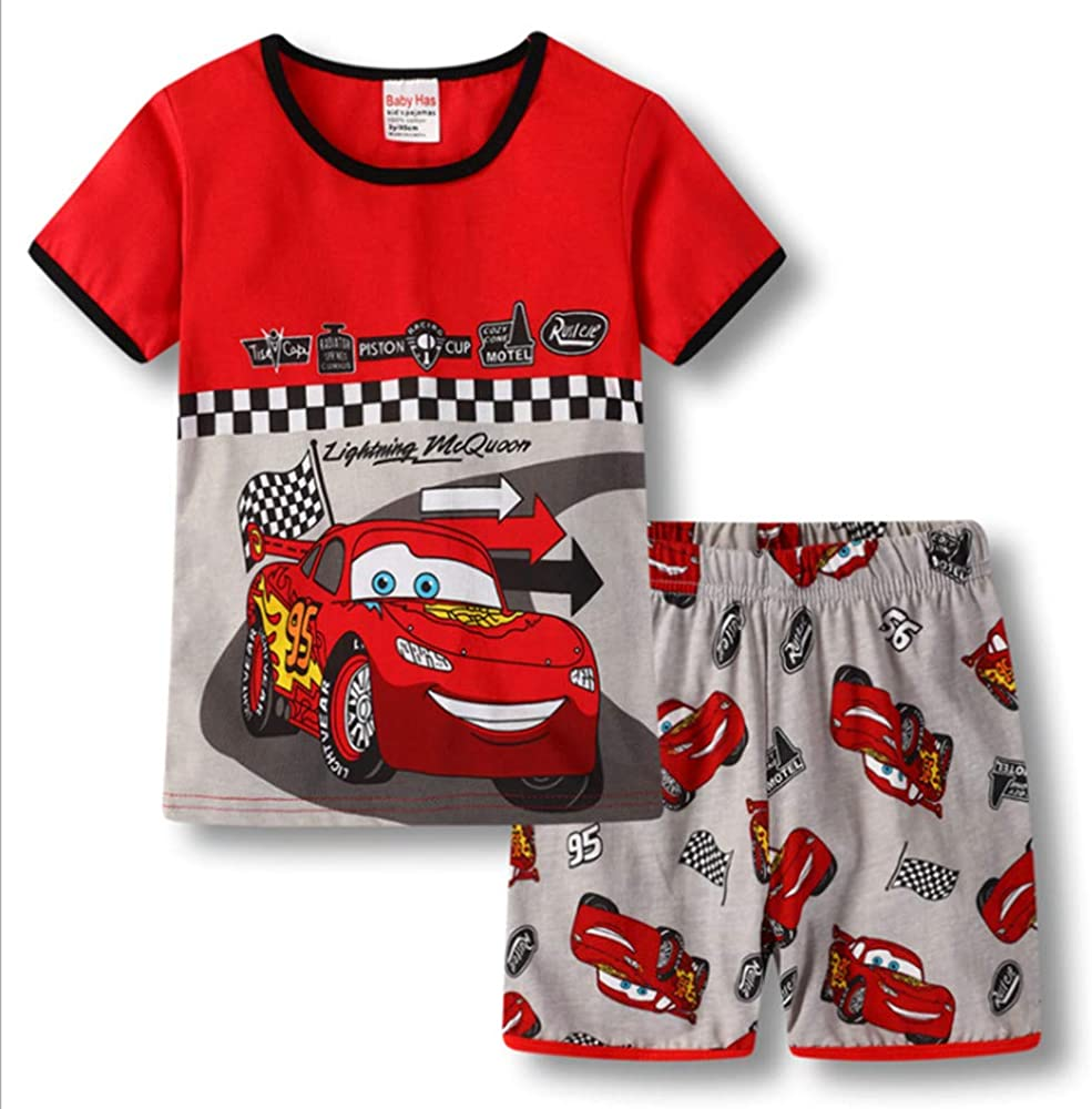 Boys Pajamas Set 100% Cotton Spiderman Kids Short Snug Fit Pjs Summer Toddler Sleepwear